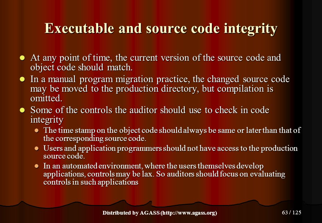 Executable and source code integrity