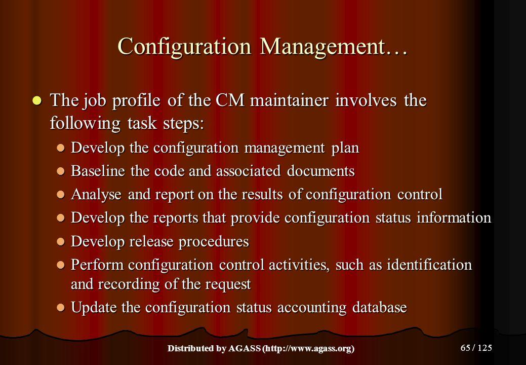 Configuration Management…