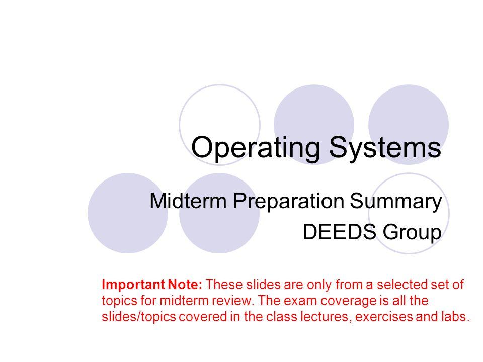 Midterm Preparation Summary DEEDS Group