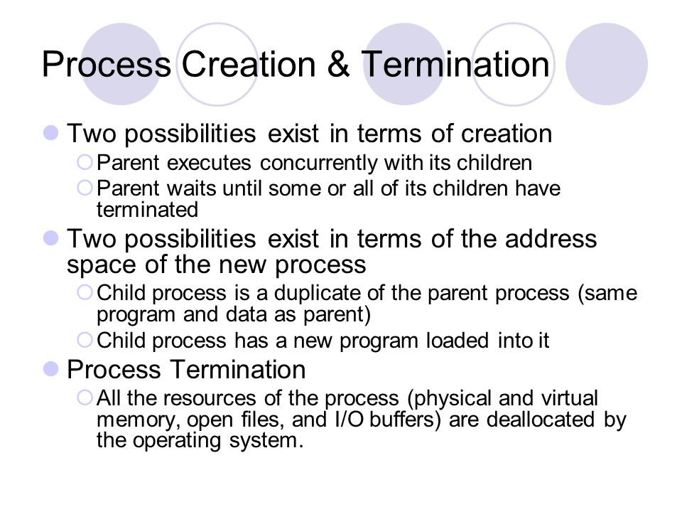 Process Creation & Termination