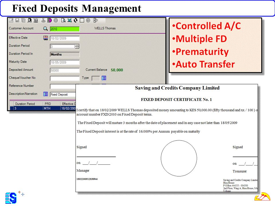 Fixed Deposits Management