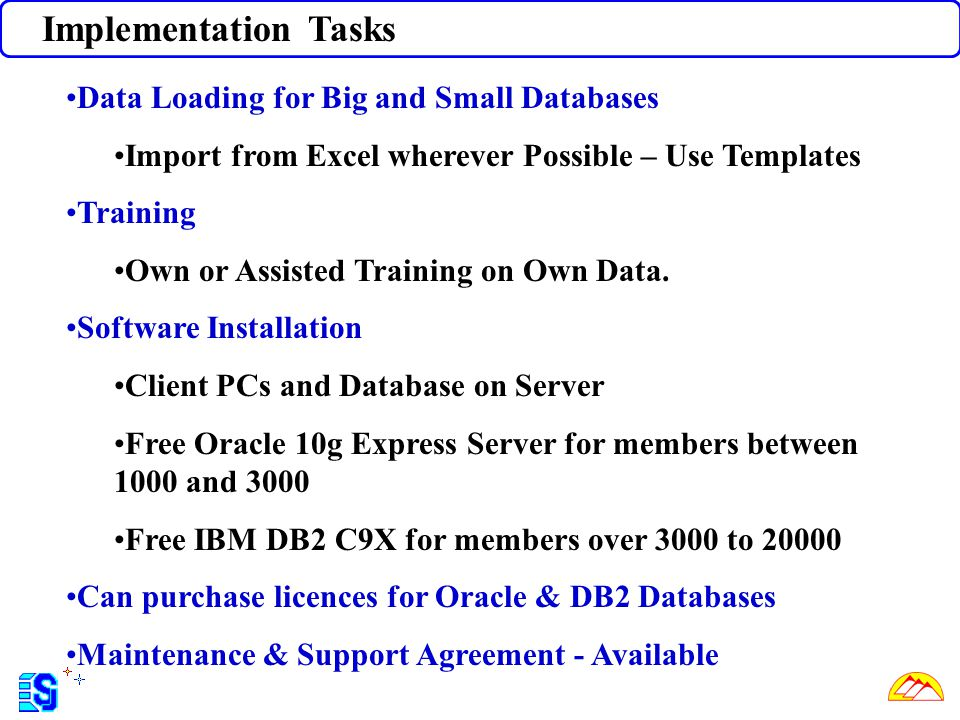 Implementation Tasks Data Loading for Big and Small Databases