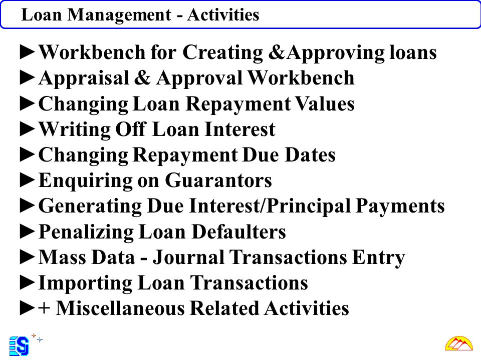 Workbench for Creating &Approving loans Appraisal & Approval Workbench
