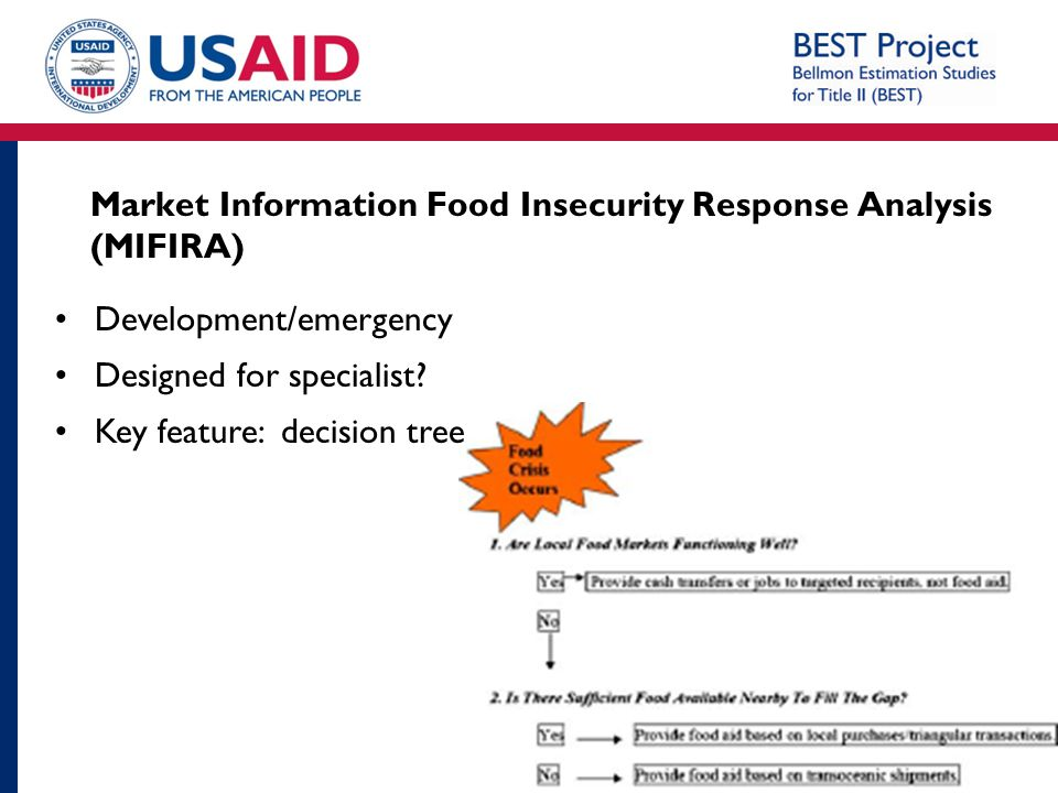 Market Information Food Insecurity Response Analysis (MIFIRA)
