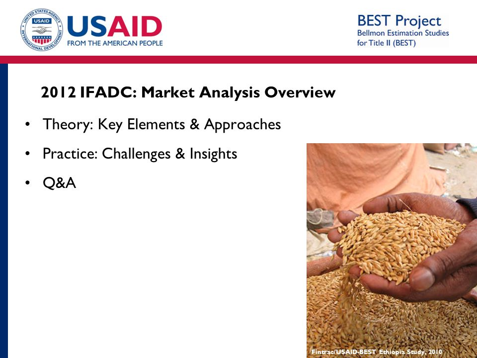 2012 IFADC: Market Analysis Overview