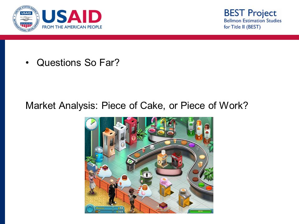 Questions So Far Market Analysis: Piece of Cake, or Piece of Work