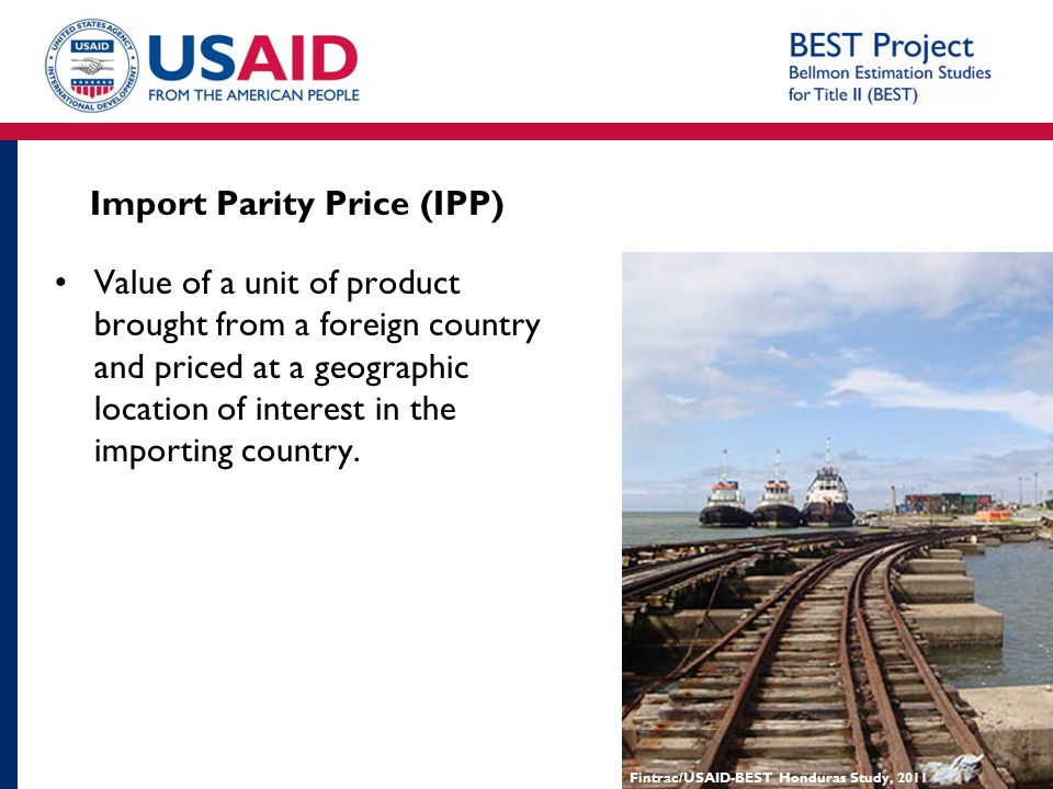Import Parity Price (IPP)