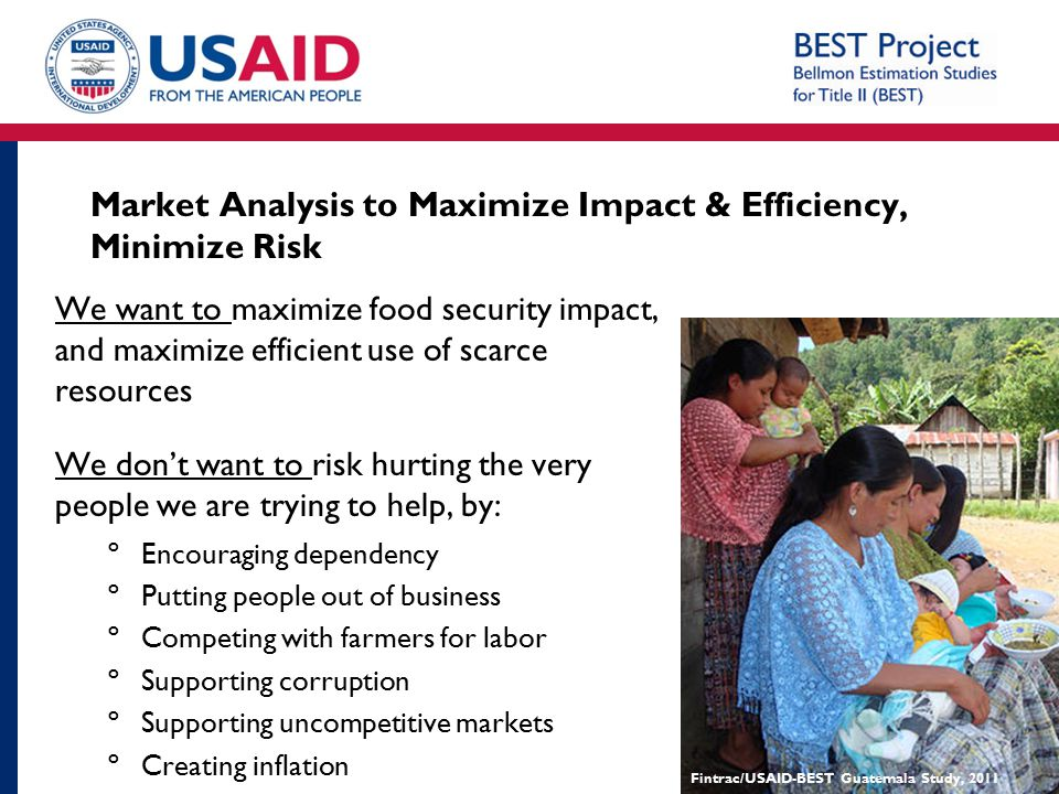 Market Analysis to Maximize Impact & Efficiency, Minimize Risk
