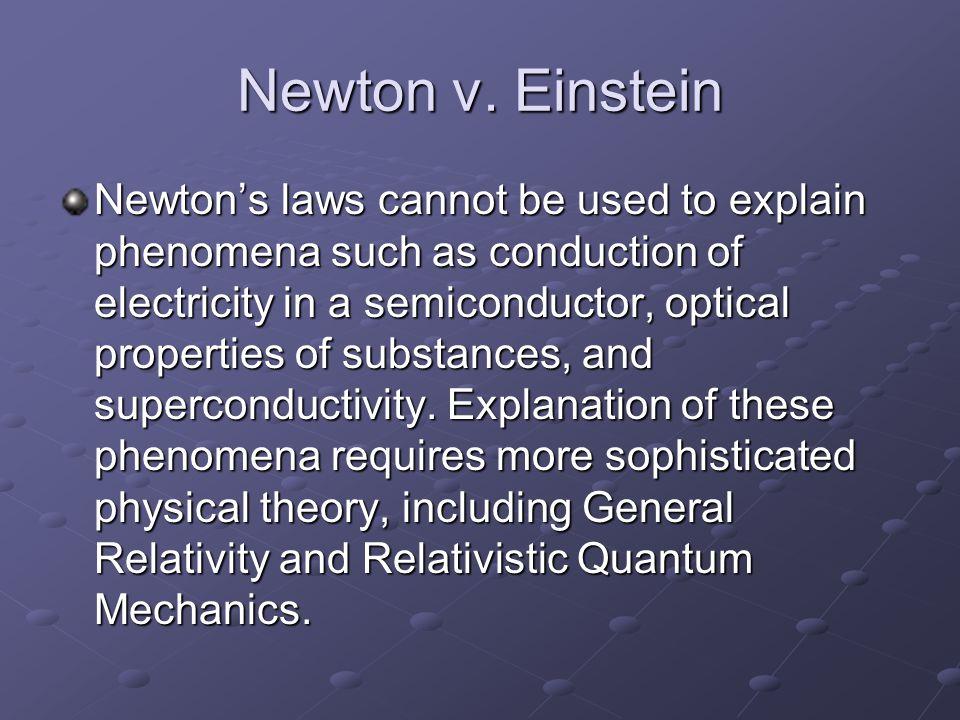 Newton v. Einstein
