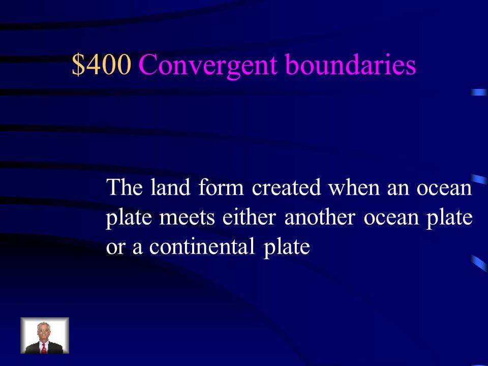 $400 Convergent boundaries