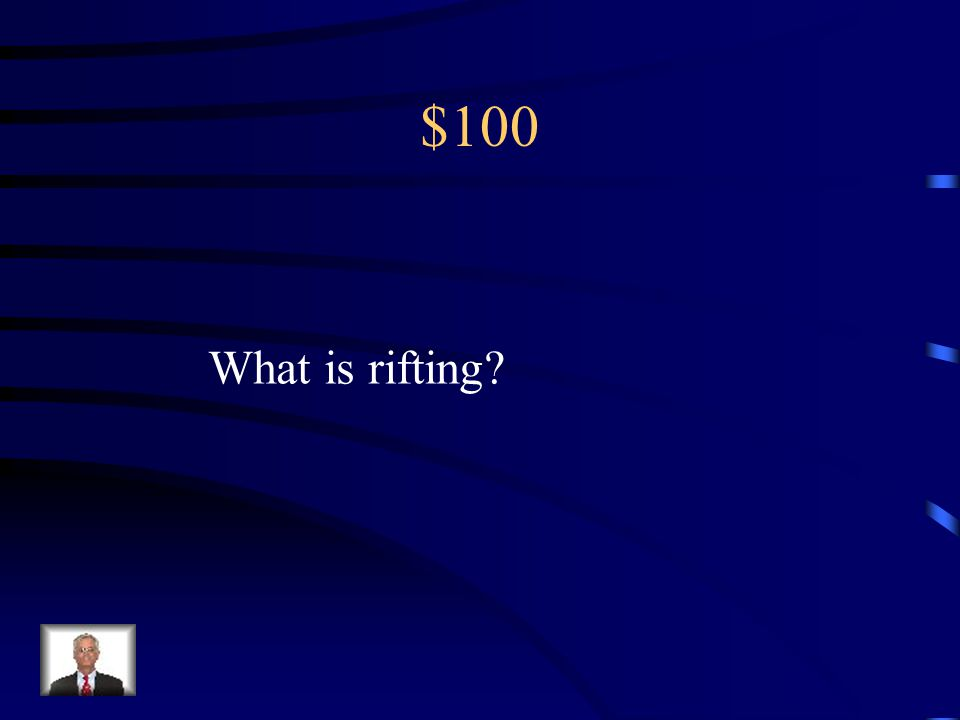 $100 What is rifting