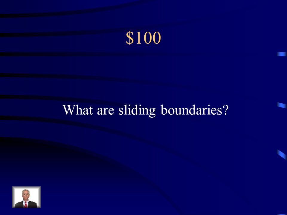 $100 What are sliding boundaries