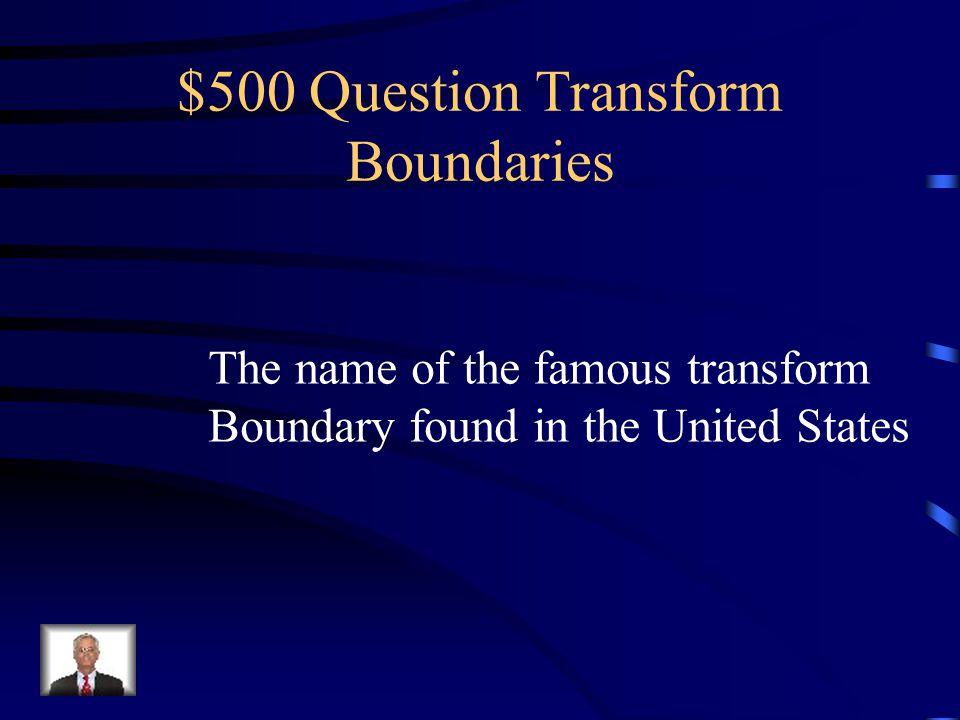 $500 Question Transform Boundaries