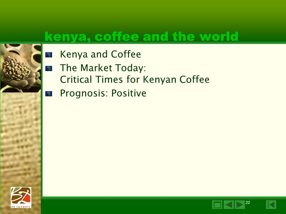 kenya, coffee and the world