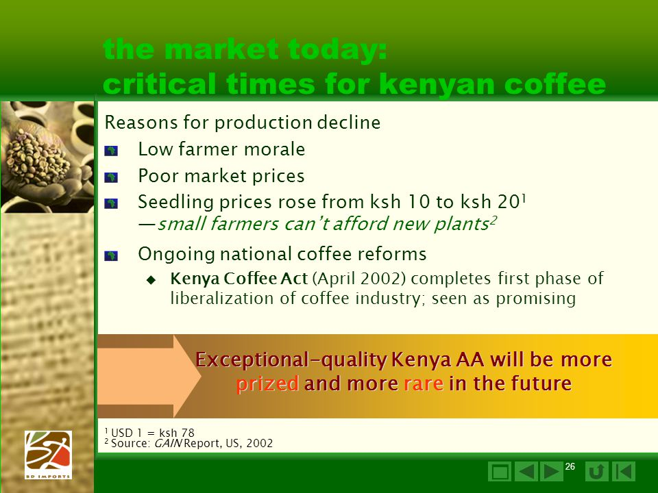 the market today: critical times for kenyan coffee