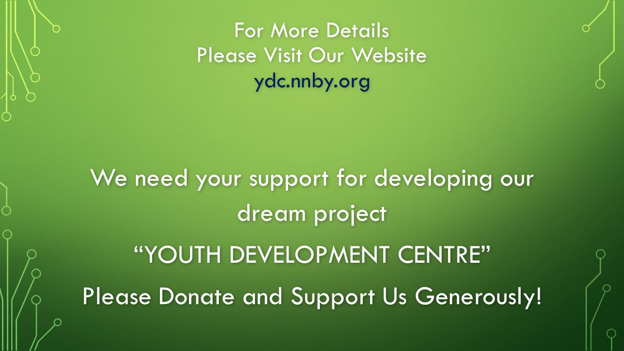 For More Details Please Visit Our Website ydc.nnby.org