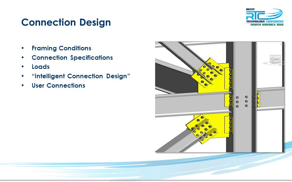 Connection Design Framing Conditions Connection Specifications Loads