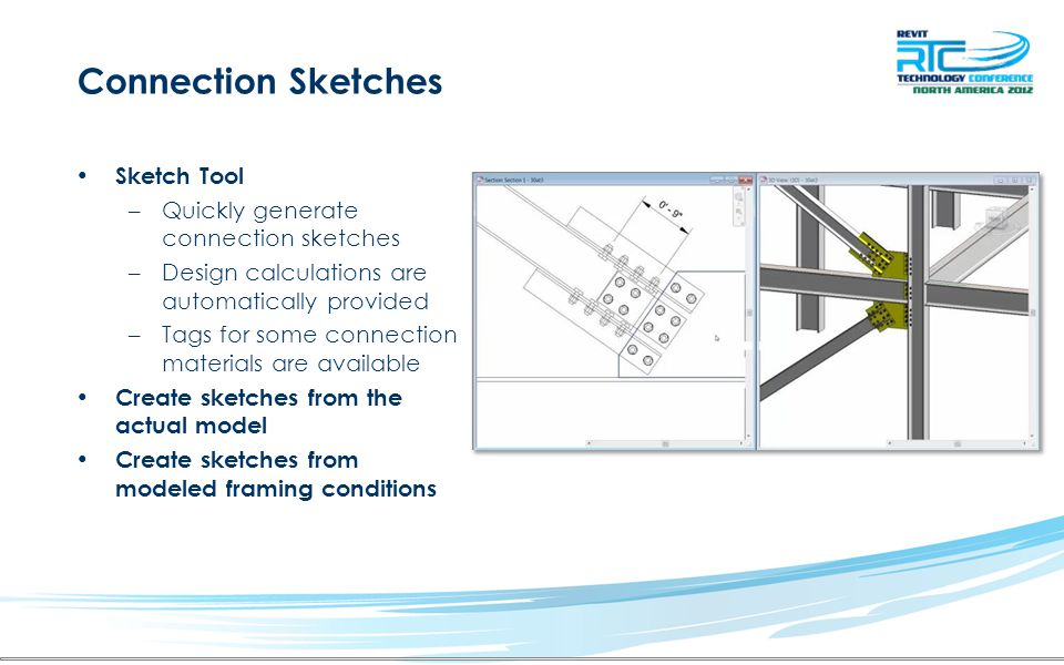 Connection Sketches Sketch Tool Quickly generate connection sketches