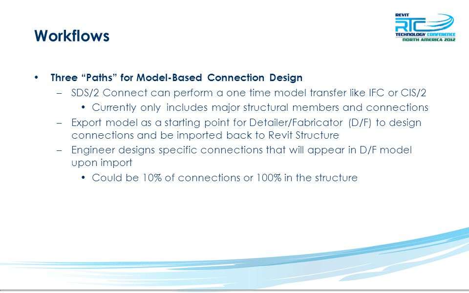 Workflows Three Paths for Model-Based Connection Design