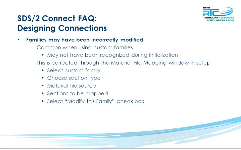 SDS/2 Connect FAQ: Designing Connections