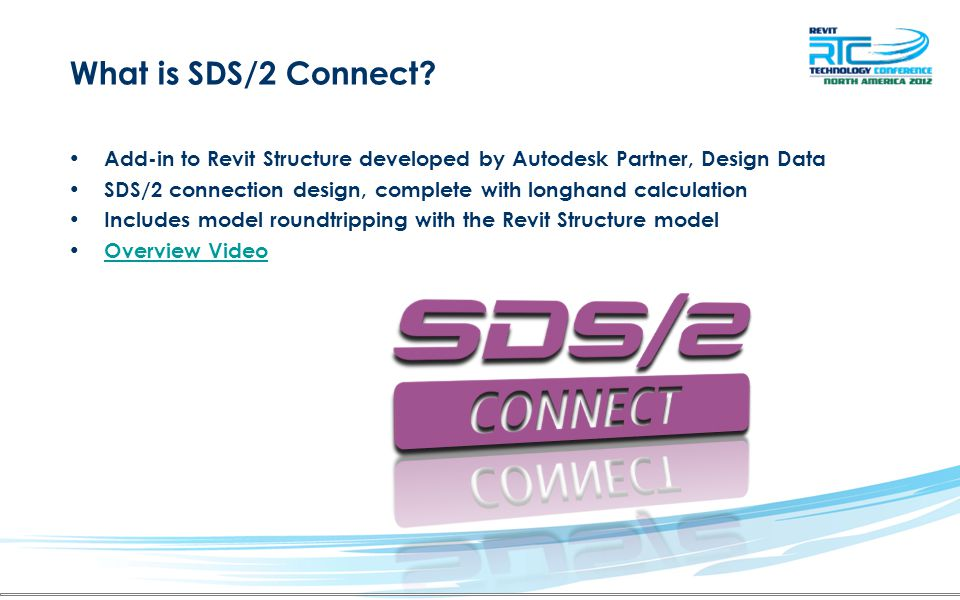 What is SDS/2 Connect Add-in to Revit Structure developed by Autodesk Partner, Design Data.