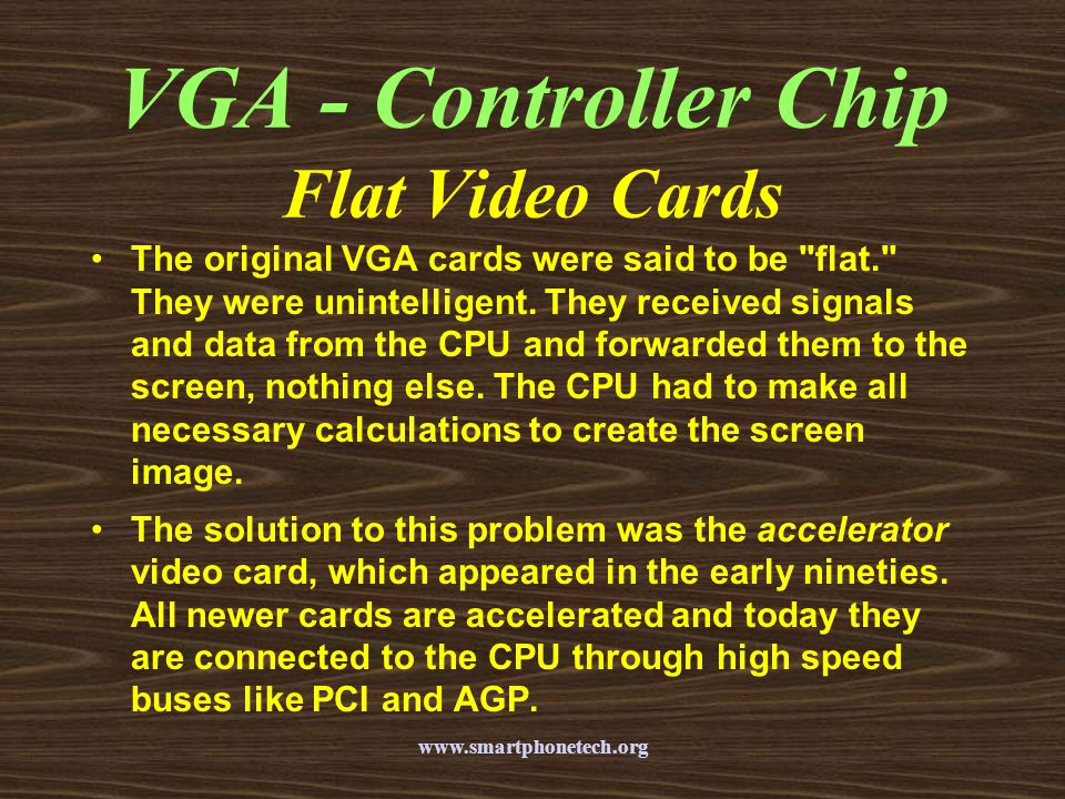 VGA - Controller Chip Flat Video Cards