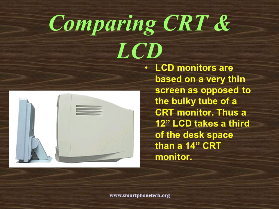 Comparing CRT & LCD