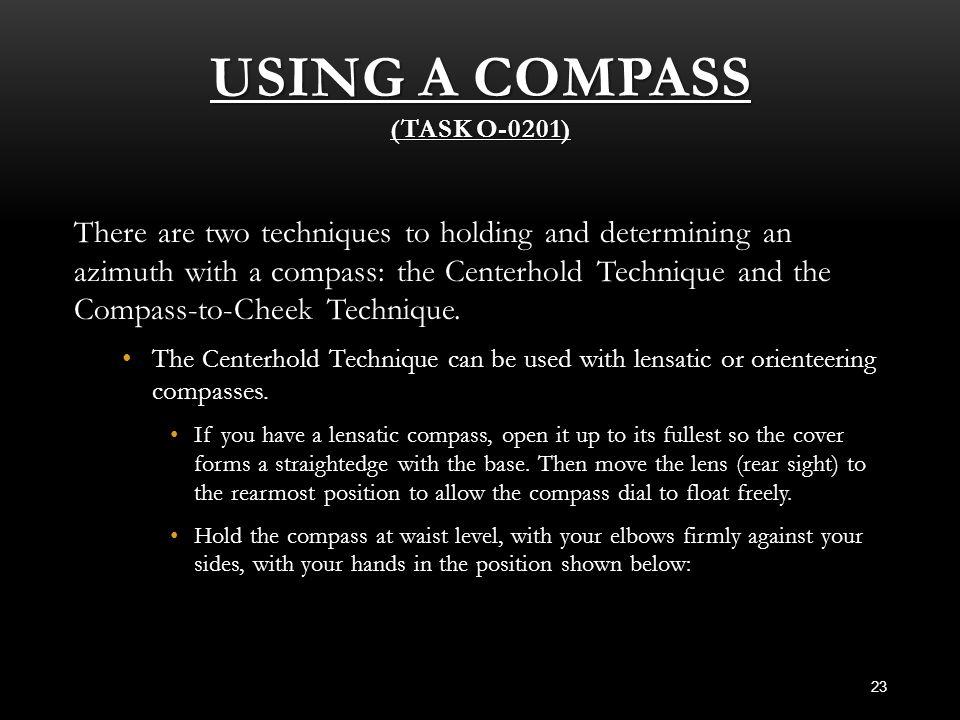 Using a Compass (Task O-0201)