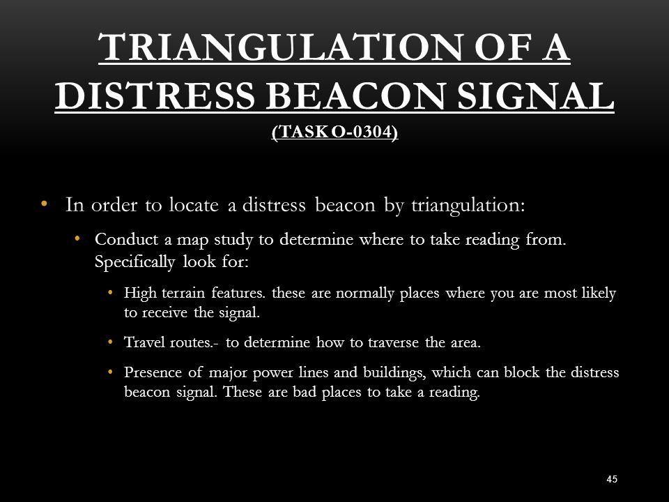 Triangulation of a Distress Beacon Signal (Task O-0304)