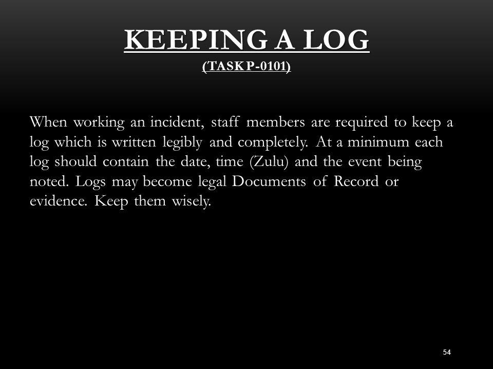 Keeping a Log (Task P-0101)