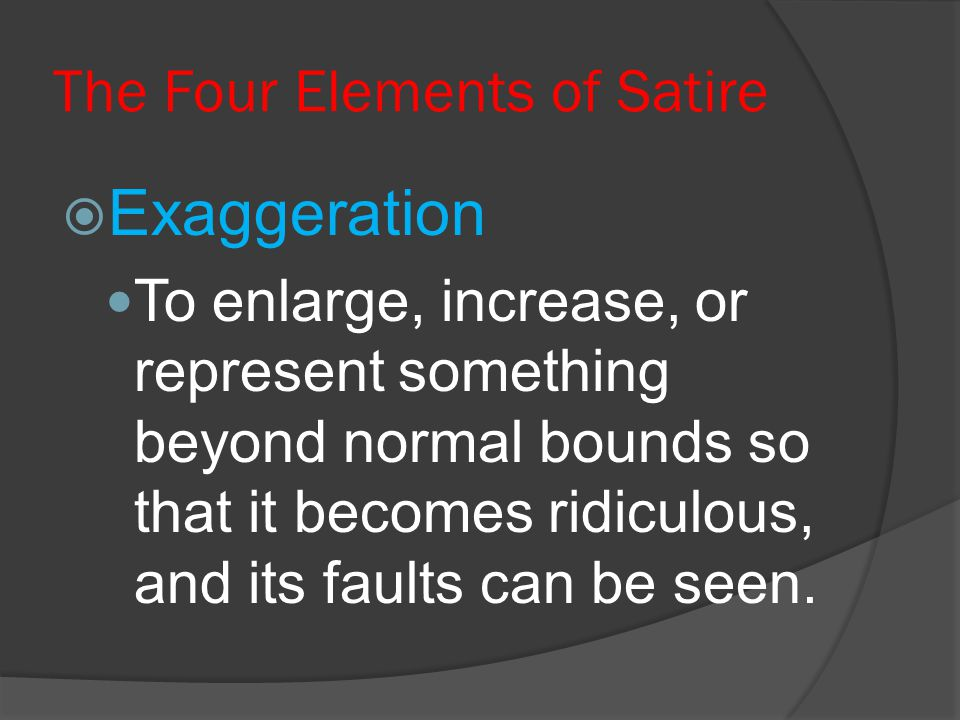 The Four Elements of Satire