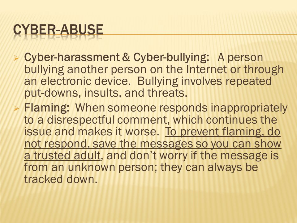 Cyber-Abuse