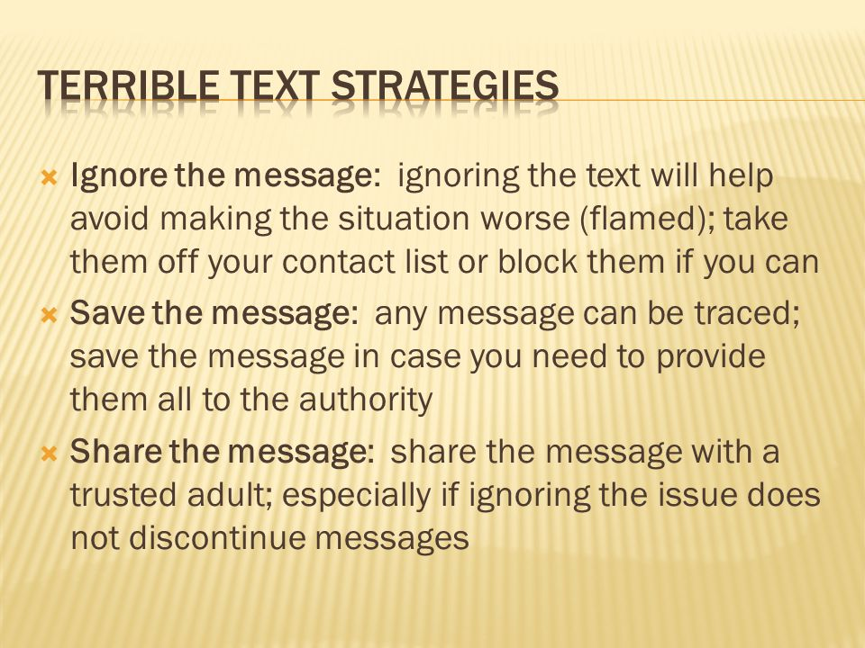 Terrible Text Strategies
