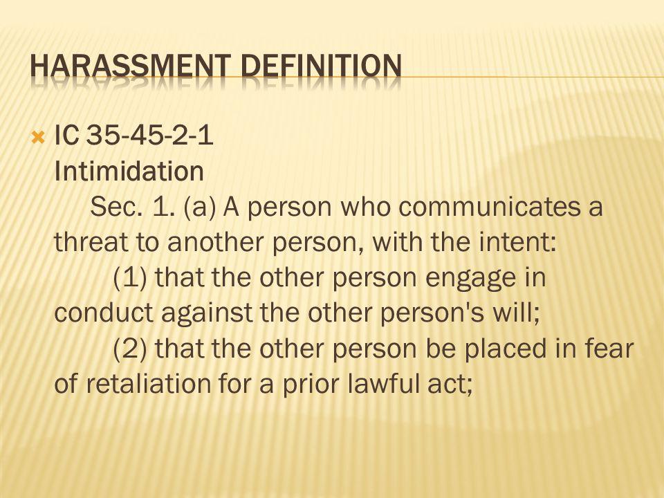 Harassment Definition