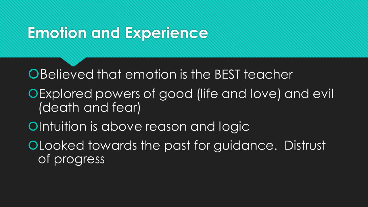 Emotion and Experience