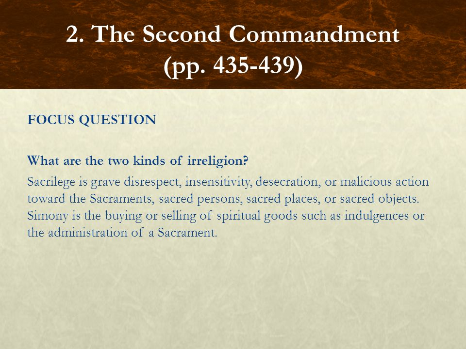 2. The Second Commandment (pp. 435-439)