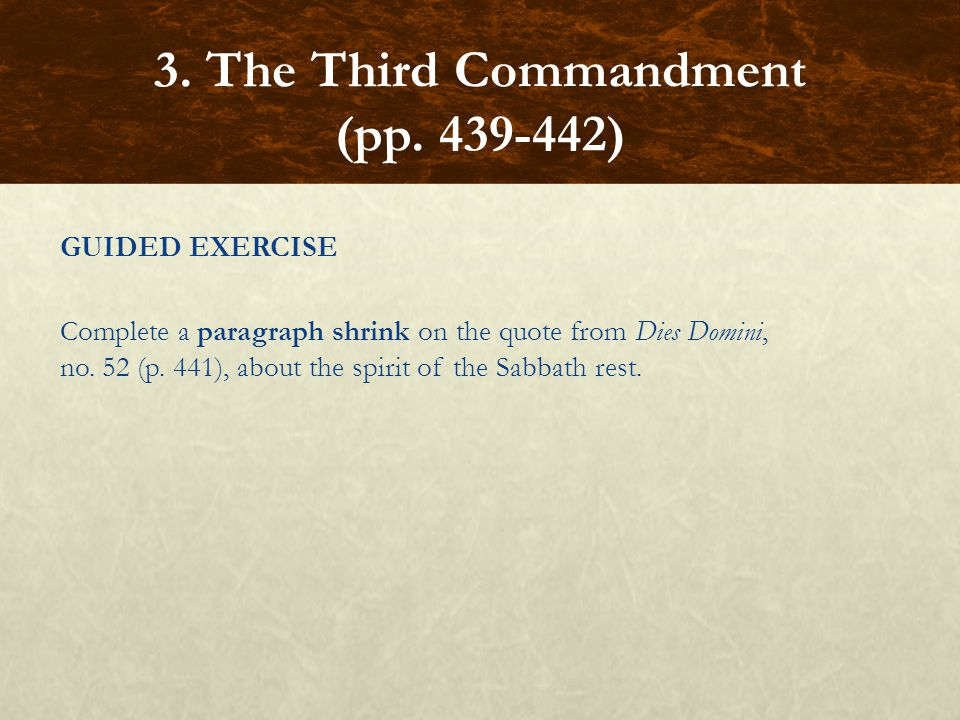 3. The Third Commandment (pp. 439-442)