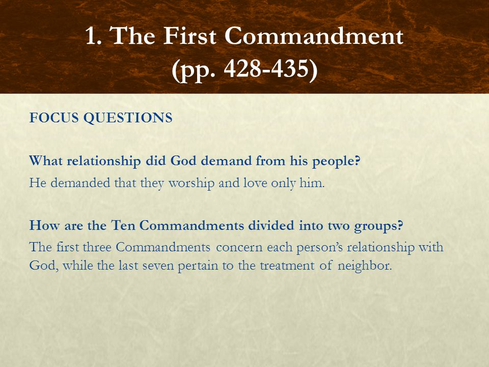 1. The First Commandment (pp. 428-435)
