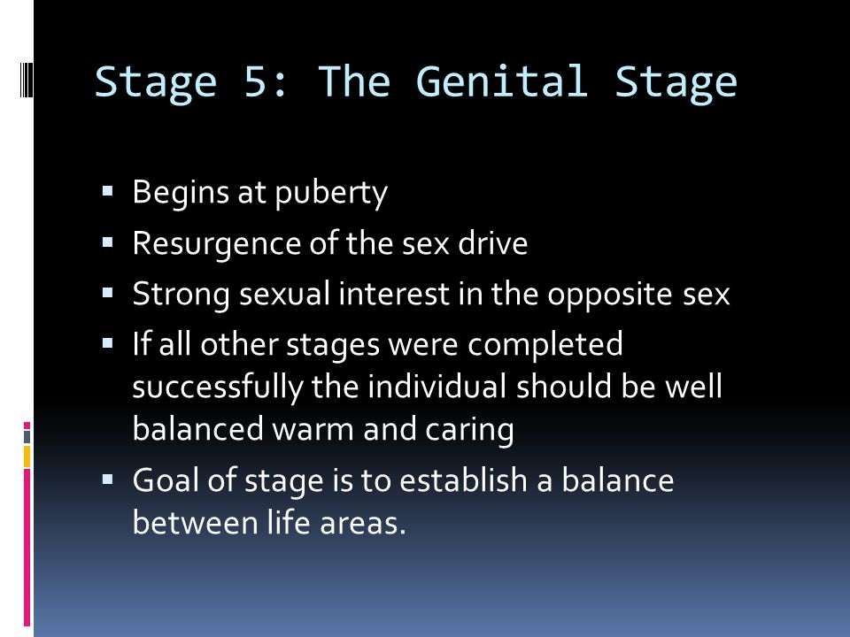 Stage 5: The Genital Stage