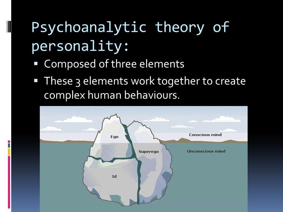 Psychoanalytic theory of personality: