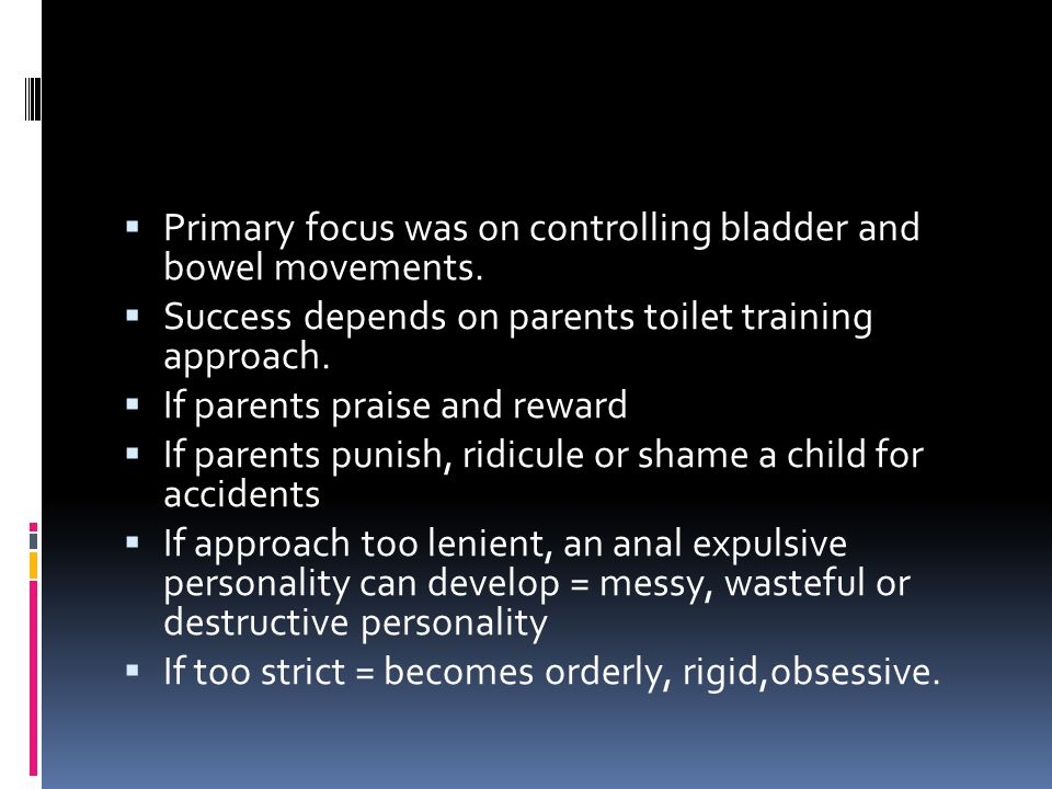 Primary focus was on controlling bladder and bowel movements.