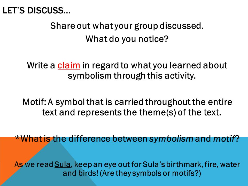 Share out what your group discussed. What do you notice