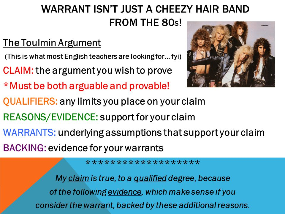 Warrant isn't just a cheezy hair band from the 80s!
