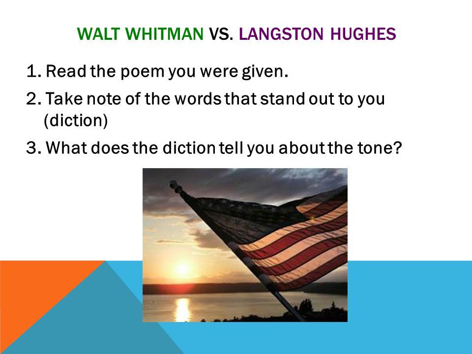 Walt whitman vs. Langston hughes