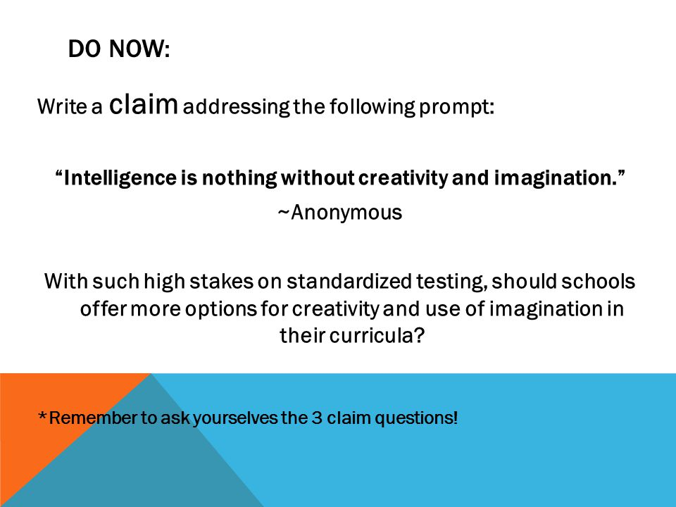 Intelligence is nothing without creativity and imagination.