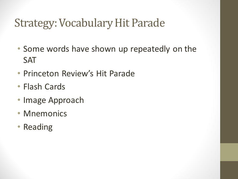 Strategy: Vocabulary Hit Parade