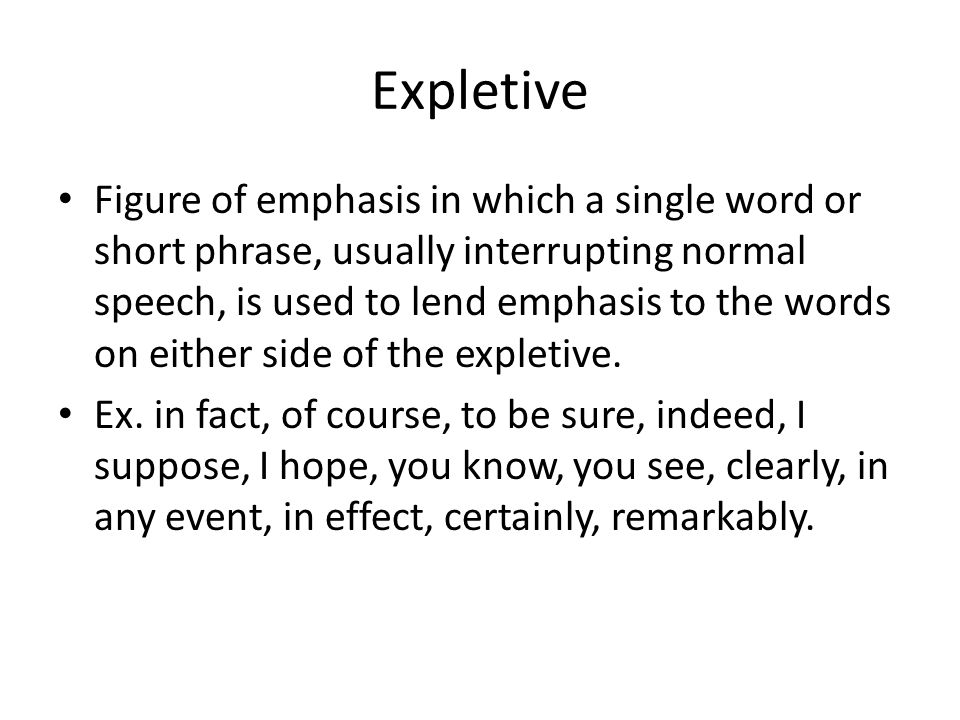 Expletive