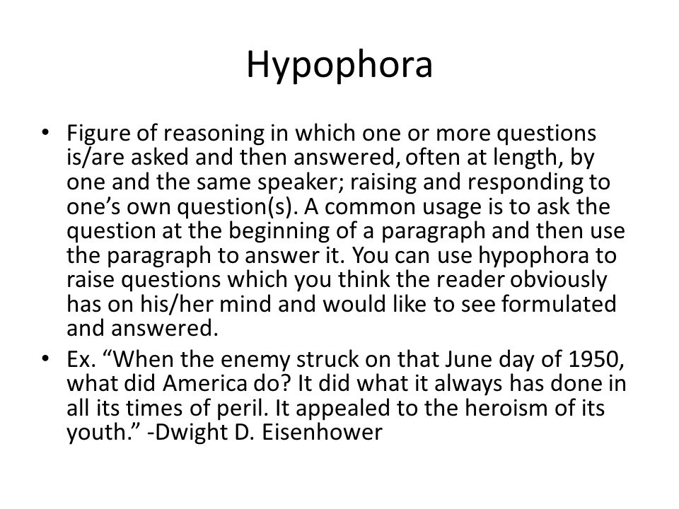 Hypophora