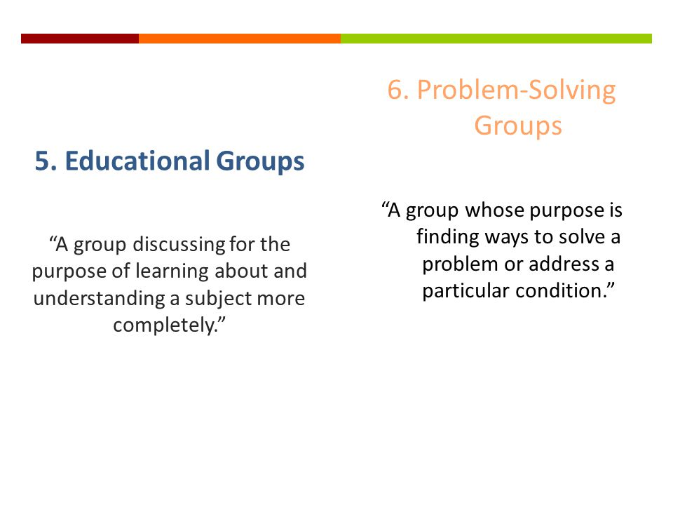 6. Problem-Solving Groups