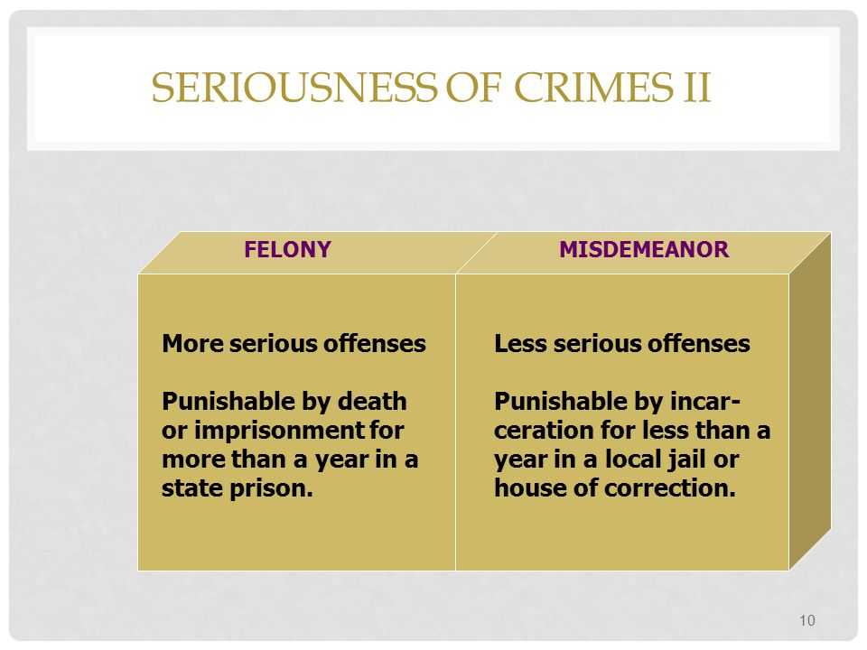 Seriousness of Crimes II